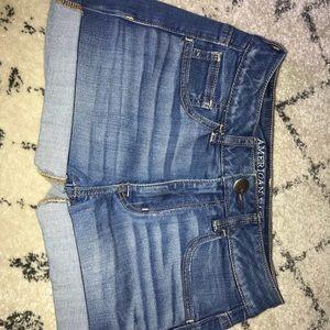 2 PAIR American Eagle jean shorts